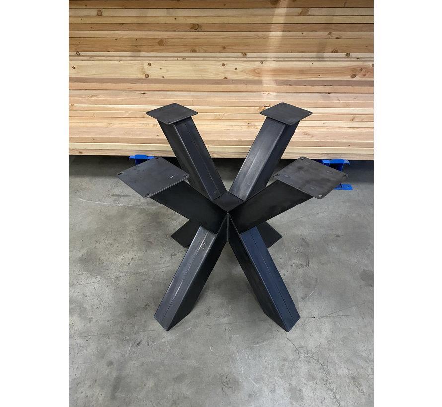 Dubbele kruispoot staal 80 x 80 cm