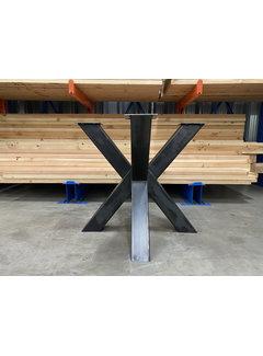 Doinq Dubbele kruispoot staal 80 x 80 cm voor kleine ronde bladen