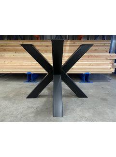 Doinq Dubbele kruispoot staal 90 x 90 cm voor ronde bladen