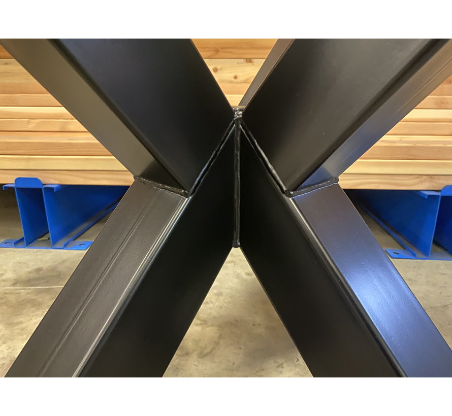 Dubbele kruispoot staal 90 x 90 cm