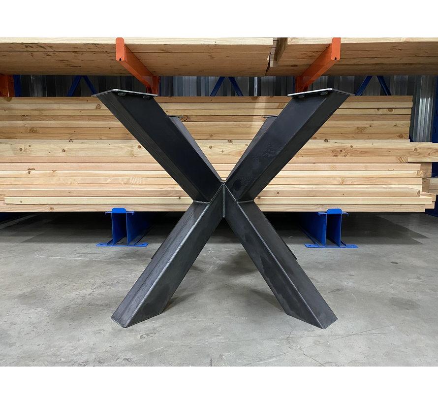 Dubbele kruispoot staal 100 x 100 cm voor ronde bladen