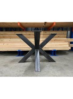 Doinq Dubbele kruispoot staal 100 x 100 cm voor ronde bladen