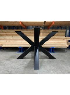 Doinq Dubbele kruispoot staal 110 x 110 cm voor grote ronde bladen