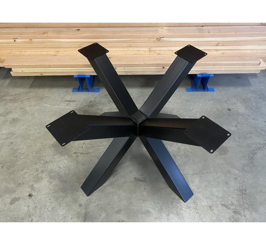 Dubbele kruispoot staal 110 x 110 cm voor grote ronde bladen