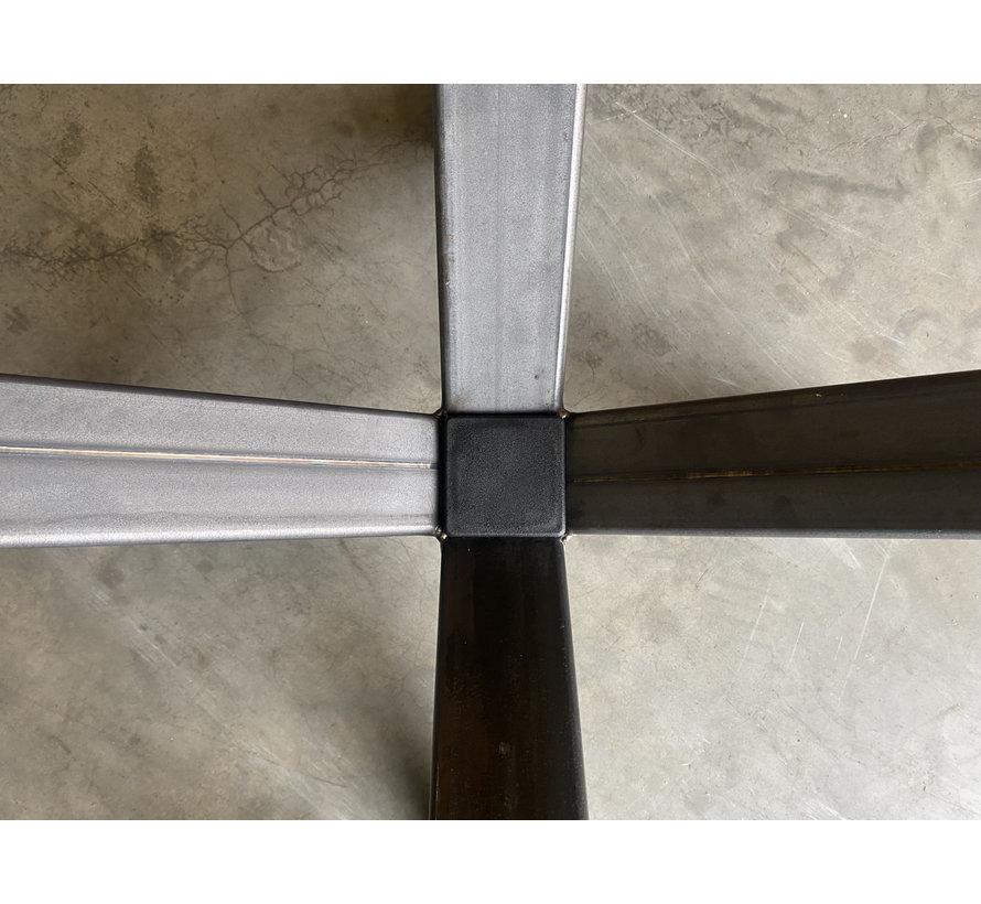 Stalen kruispoot voor grote ronde tafel (110x110)