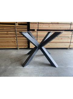 Doinq Stalen kruispoot ronde tafel (110x110)