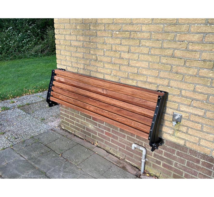 Het gezelligste oer Hollandse opklapbare bankje voor aan de muur!