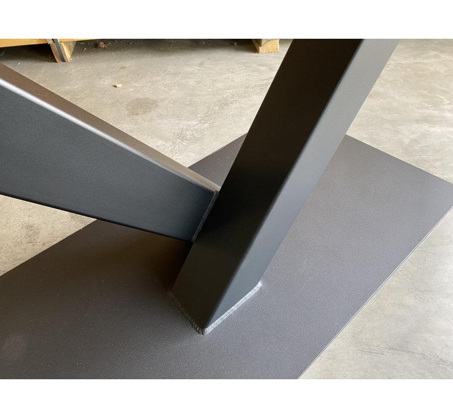 V poot tafelonderstel staal
