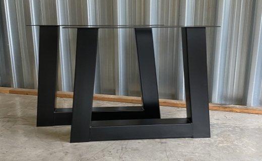 Aanbieding! Set Trapezium onderstellen zwart gepoedercoat voor €149,-