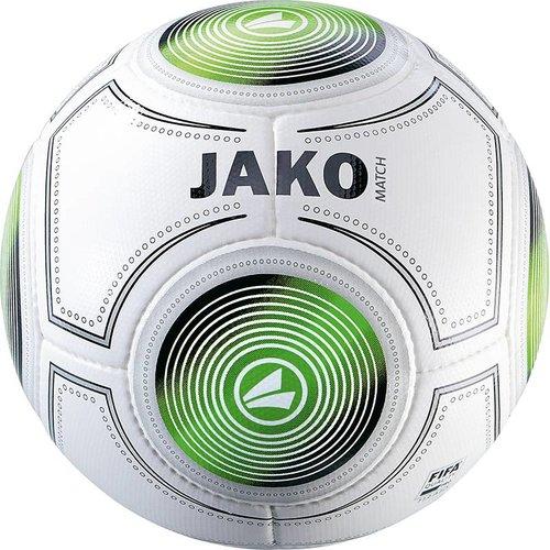 Jako JAKO Wedstrijdbal Match (14 p./handgenaaid) - Wit/Zwart/Groen