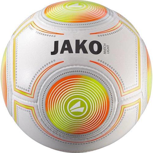 Jako JAKO Lightbal Match (14 p./handgenaaid) - Wit/Fluo Oranje/Fluo Geel-350G