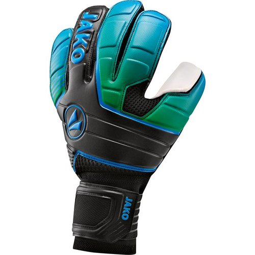 Jako JAKO Keeperhandschoen Champ SuperSoft NC - Zwart/Fluo Groen/Jako Blauw