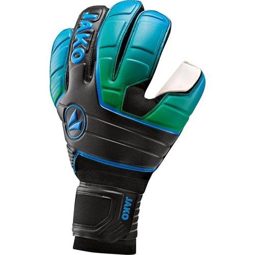 Jako JAKO Keeperhandschoen Champ Basic RC - Zwart/Fluo Groen/Jako Blauw