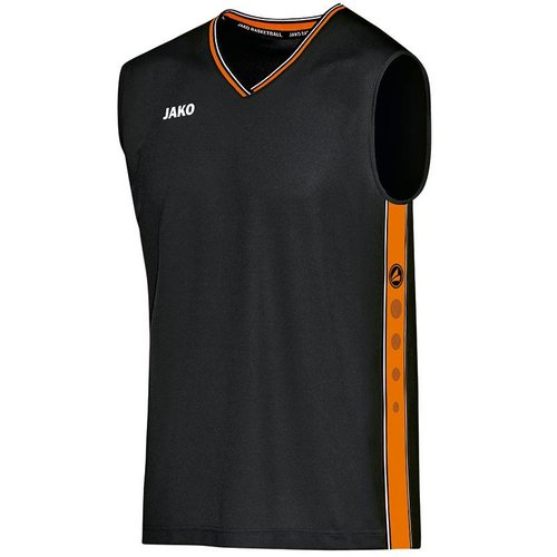 Jako JAKO Shirt Center - Zwart/Fluo Oranje
