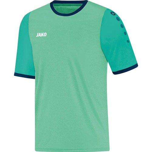 Jako JAKO Shirt Leeds KM - Munt/Smaragd/Navy