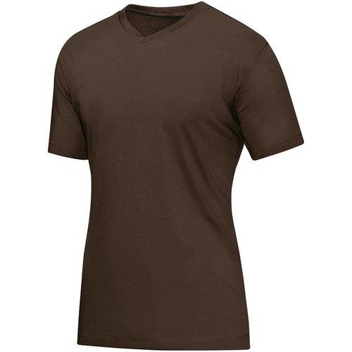 Jako JAKO T-Shirt V-hals - Chocoladebruin