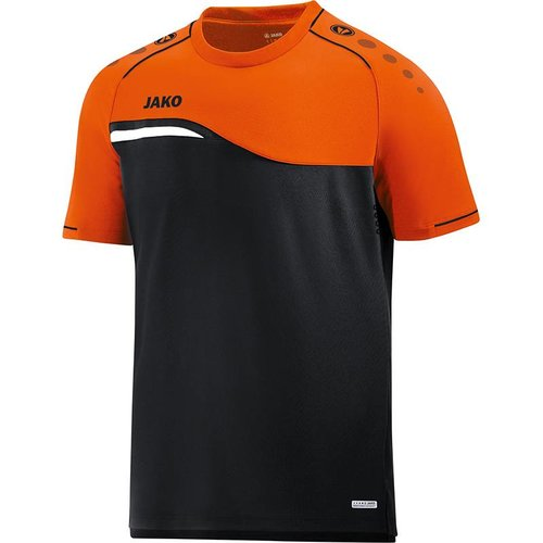 Jako JAKO T-shirt Competition 2.0 - Zwart/Fluo Oranje