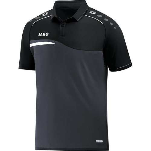 Jako JAKO Polo Competition 2.0 - Antraciet/Zwart