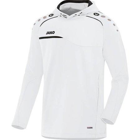 Jako JAKO Sweater met kap Prestige - Wit/Zwart