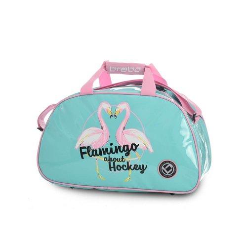 Brabo Hockey Shoulderbag Flamingo Mint Blue