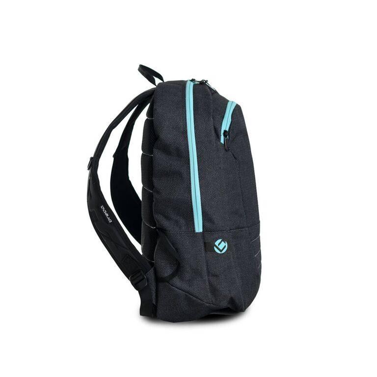 7ae38cf25f6 Brabo hockey Backpack SR Traditional Denim Black/Aqua | TEAMWEAR.BE ...