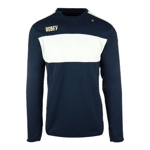 Robey Robey Sportswear Performance Sweater Navy/Wit Stripe