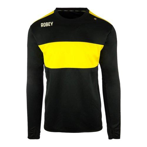 Robey Robey Sportswear Performance Sweater Zwart/Geel