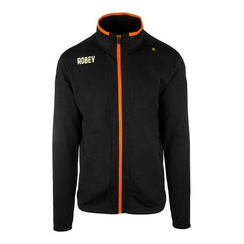 Robey Robey Sportswear Performance Trainingsjas Zwart/Oranje zipper