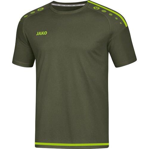 Jako JAKO T-shirt/Shirt Striker 2.0 KM kaki/fluo groen
