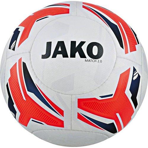 Jako JAKO Trainingsbal Match 2.0 wit/flame/marine