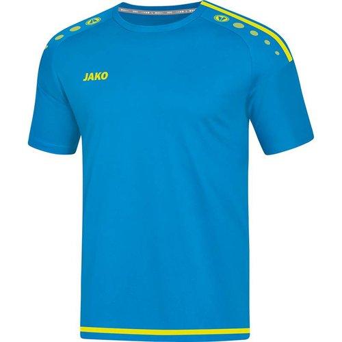 Jako JAKO T-shirt/Shirt Striker 2.0 KM dames JAKO blauw/fluogeel