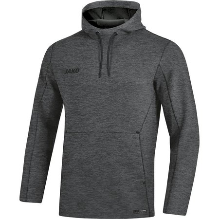 Jako JAKO Sweater met kap Premium Basics antraciet gemeleerd