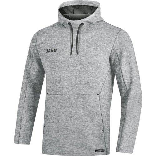 Jako JAKO Sweater met kap Premium Basics grijs gemeleerd