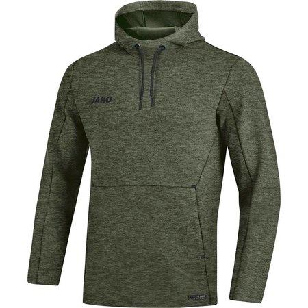Jako JAKO Sweater met kap Premium Basics kaki gemeleerd