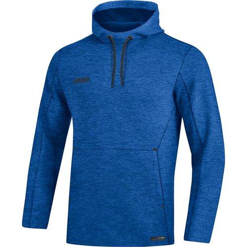 Jako JAKO Sweater met kap Premium Basics royal gemeleerd