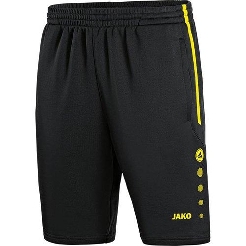Jako JAKO Trainingsshort Active Zwart Fluo geel