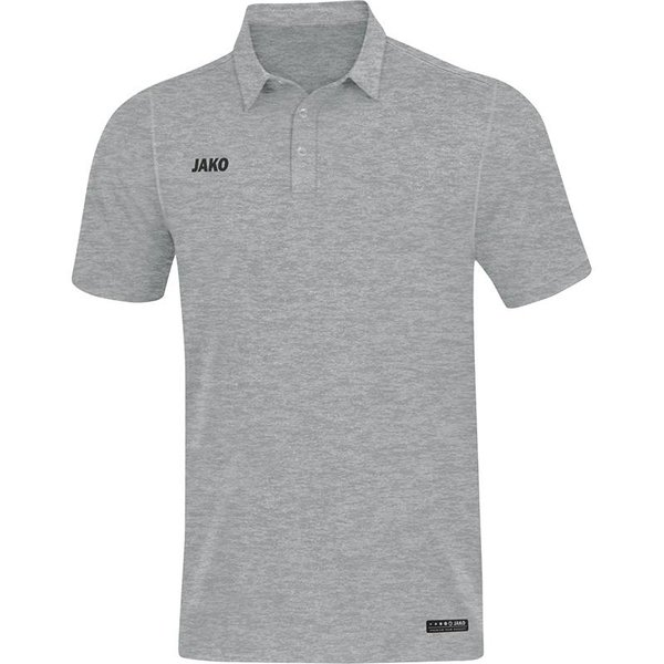 JAKO Polo Premium Basics grijs gemeleerd