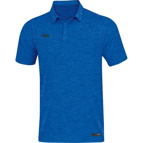 JAKO Polo Premium Basics royal gemeleerd