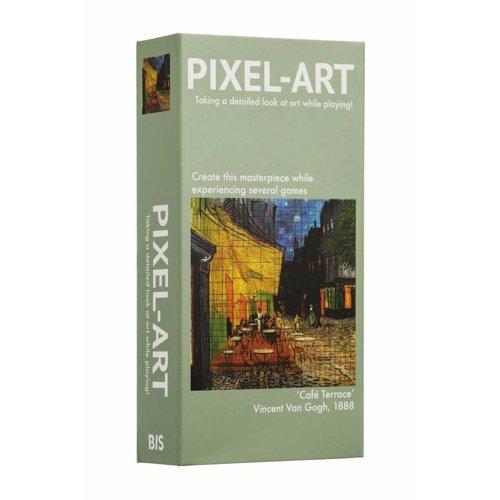 Pixel-Art Game: Café Terrace at Night