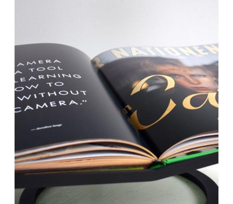 Boekenstandaard koningshart - Iron Black