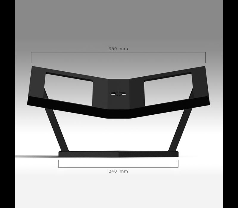 Boekenstandaard - Hexagon / black steel / PRE-ORDER