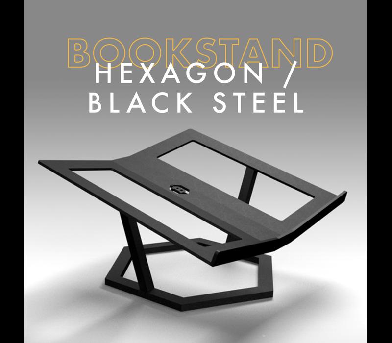 Boekenstandaard - Hexagon / Black Steel