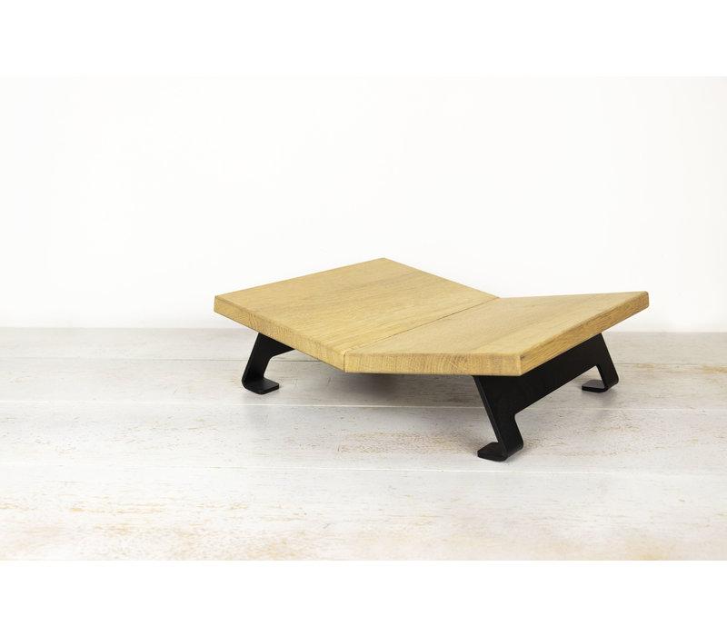 Boekenstandaard V – OAK Wood / Steel