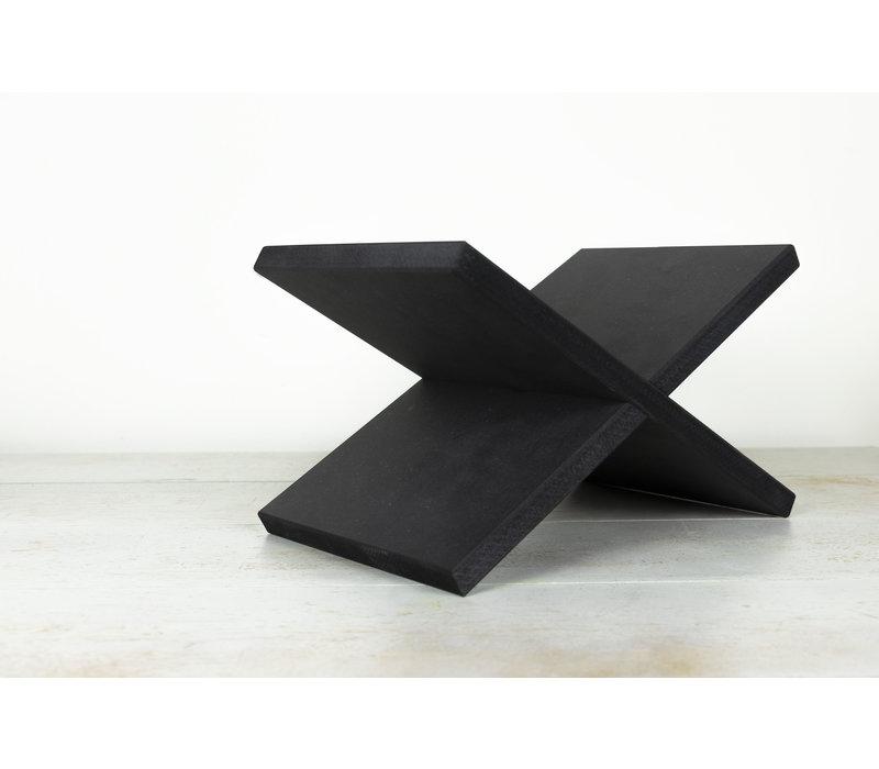 Boekenstandaard X - MDF Zwart