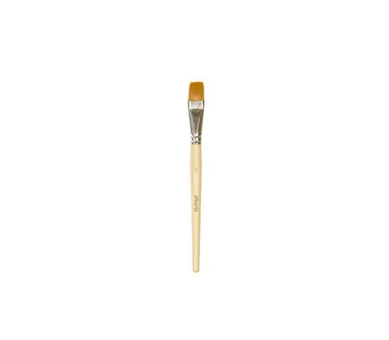 Alberts penseel plat nr 16(polyestervezel haar) - per stuk (op=op)