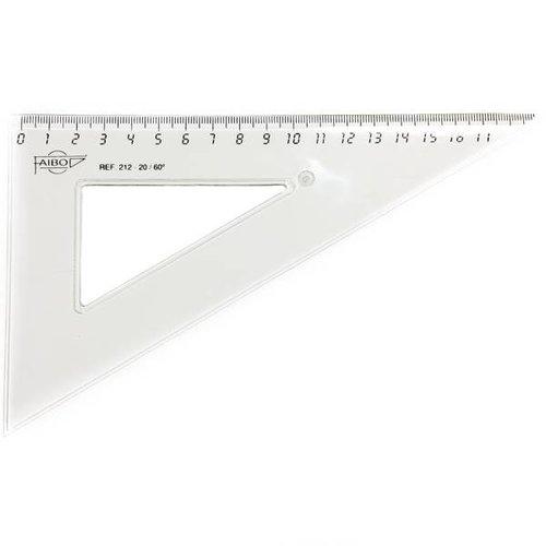 Faibo Driehoek liniaal 19cm - Kunststof !!OP=OP!!