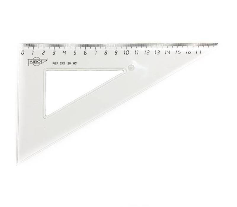 Faibo triangle ruler 19cm - plastic !!SALE!!