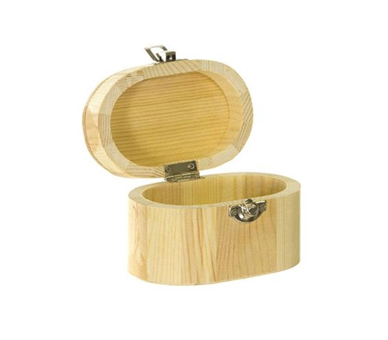 Wooden box oval 11x7x7cm (As long as stock lasts)