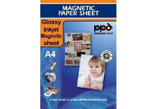 Inkjet - Magnetic Sheets - Gloss - white - A4 - Per sheet
