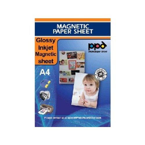 Inkjet - Magnetic Sheets - Gloss - white - A4 - Per sheet